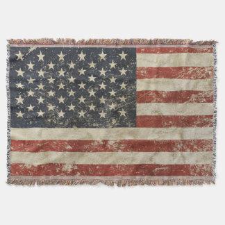 Manta Cobertura do lance com a bandeira dos EUA