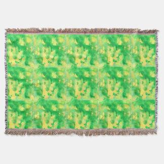 Manta Cobertura do lance da aguarela do verde amarelo