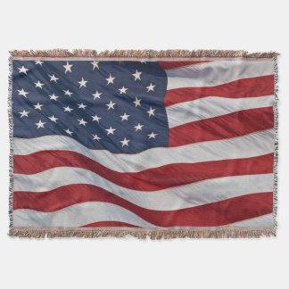 Manta Cobertura do lance da bandeira americana