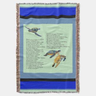 Manta Cobertura do lance da oração do poema do oceano
