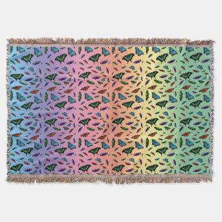 Manta Cobertura do lance de Flutterbies (arco-íris)