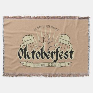Manta Cobertura do lance de Oktoberfest