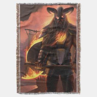 Manta Cobertura do lance do guerreiro de Viking