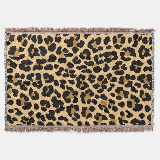 Manta Cobertura do lance do impressão do leopardo
