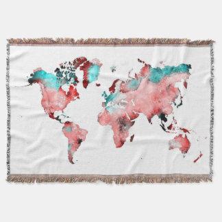 Manta cobertura do mapa do mundo