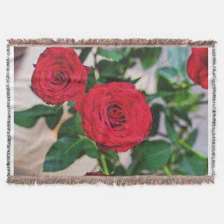 Manta cobertura feita sob encomenda do lance de 2 rosas