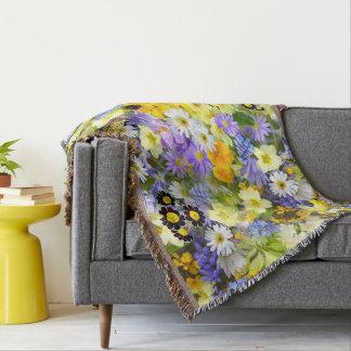 Manta cobertura floral da Multi-cor
