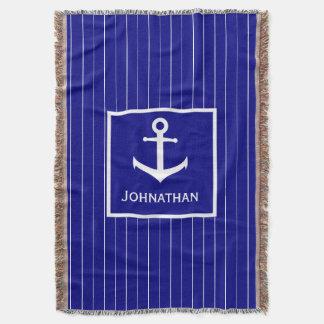Manta Cobertura náutica do lance dos azuis marinhos