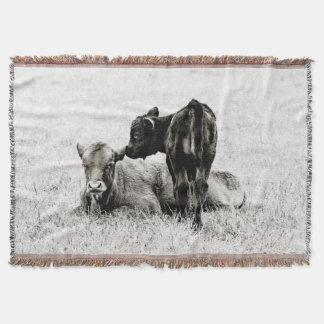 Manta Cobertura preta & branca adorável do lance da vaca