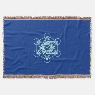 Manta Cobertura sagrado azul da geometria de Metatron