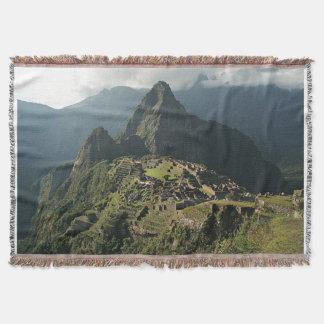 Manta Cobertura/tapeçaria tecidas Picchu do lance de