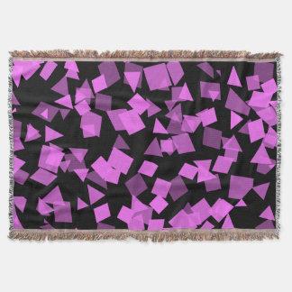 Manta Confetes cor-de-rosa brilhantes no preto