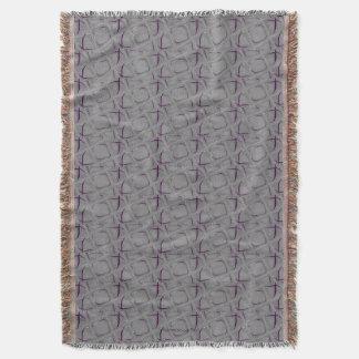 Manta Contemporâneo abstrato da beringela e das cinzas