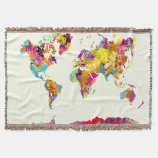 Manta cores do mapa do mundo