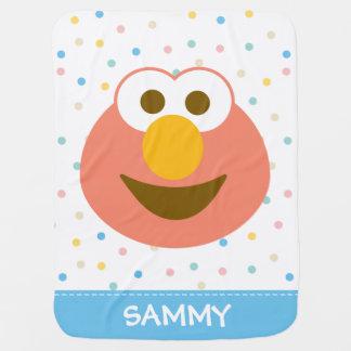 Manta De Bebe A cara grande | do bebê de Elmo adiciona seu nome