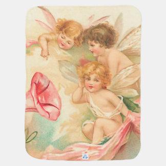 Manta De Bebe Anjo 1 do Cupido dos namorados do vintage