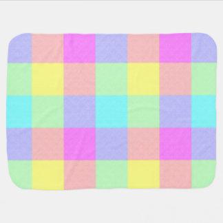 Manta De Bebe Arco-íris Pastel Checkered