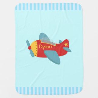 Manta De Bebe Avião colorido e adorável dos desenhos animados