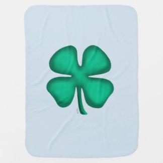 Manta De Bebe Azuis bebés 1 do trevo lado irlandês da cobertura