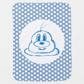 Manta De Bebe Azul & meia cobertura do bebê do 鲍鲍 do teste