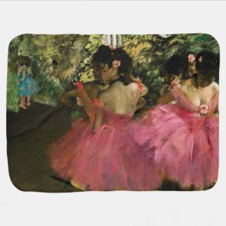 Manta De Bebe Bailarinas no rosa por Edgar Degas