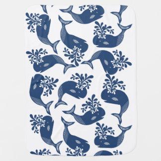 Manta De Bebe Baleias azuis