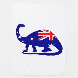 Manta De Bebe Bandeira australiana - Brontosaurus