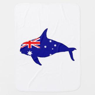 Manta De Bebe Bandeira australiana - orca do Grampus da baleia