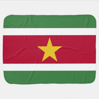 Manta De Bebe Bandeira de Suriname