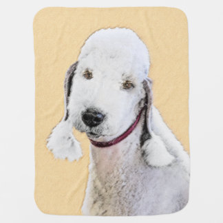 Manta De Bebe Bedlington Terrier 2