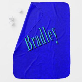 Manta De Bebe Bradley, logotipo conhecido no mosaico azul