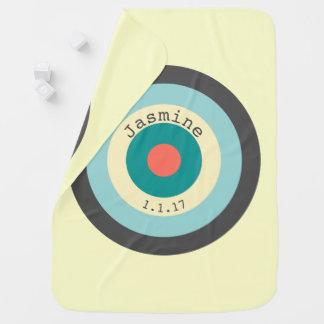 Manta De Bebe Bullseye cinzento da combinação por Shirley Taylor
