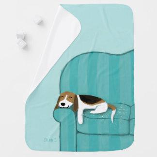 Manta De Bebe Cão bonito feliz do lebreiro | do sofá