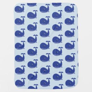 Manta De Bebe Cobertura da baleia azul