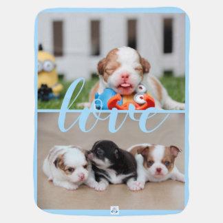 Manta De Bebe Cobertura do bebê azul da chihuahua