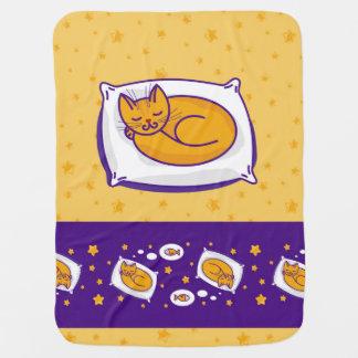 Manta De Bebe Cobertura do bebê com o gato do gengibre do sono