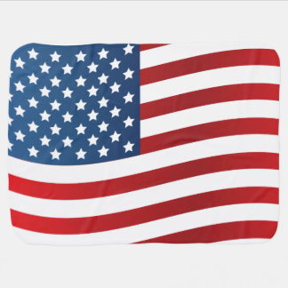Manta De Bebe Cobertura do bebê da bandeira americana