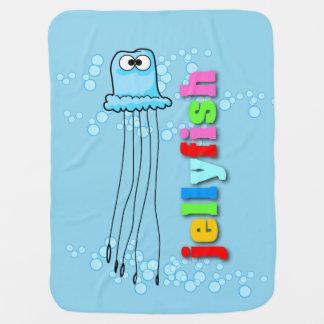Manta De Bebe Cobertura do bebê das medusa