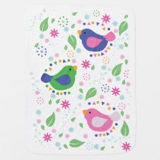 Manta De Bebe Cobertura do bebê de 3 pássaros