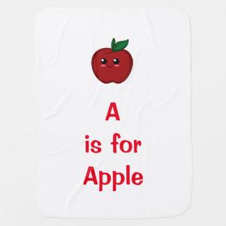 Manta De Bebe Cobertura do bebê de Apple