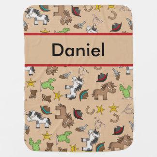 Manta De Bebe Cobertura do vaqueiro de Daniel