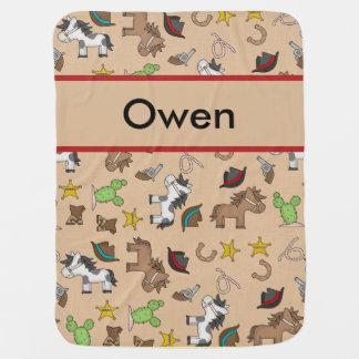 Manta De Bebe Cobertura do vaqueiro de Owen