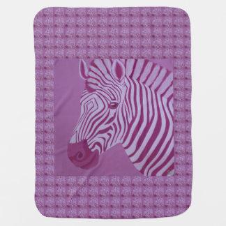 Manta De Bebe Cobertura magenta do bebê da zebra