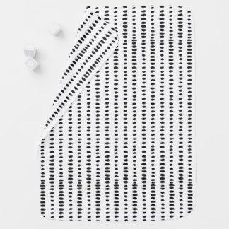 Manta De Bebe Cobertura moderna preta & do branco do abstrato do
