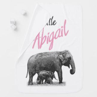 """Manta De Bebe Cobertura personalizada """"Abigail pequena """" do bebé"""