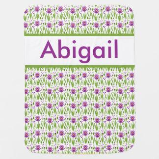 Manta De Bebe Cobertura personalizada da íris de Abigail