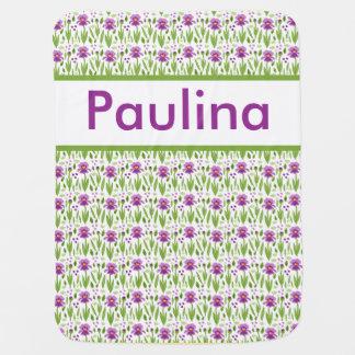 Manta De Bebe Cobertura personalizada da íris de Paulina