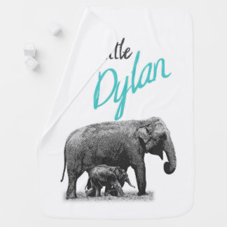 "Manta De Bebe Cobertura personalizada ""Dylan pequeno "" do bebé"