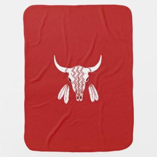 Manta De Bebe Cobertura vermelha do bebê do búfalo da dança de