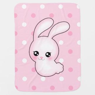 Manta De Bebe Coelho de coelhinho da Páscoa do rosa do Anime de